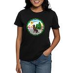 Take Off1/Lab (choc) Women's Dark T-Shirt