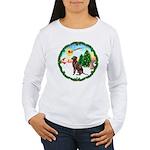 Take Off1/Lab (choc) Women's Long Sleeve T-Shirt