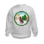 Take Off1/Lab (choc) Kids Sweatshirt