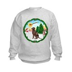 Take Off1/Lab (choc) Kids Sweatshirt