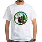 Take Off1/2 Labs(cho/blk) White T-Shirt