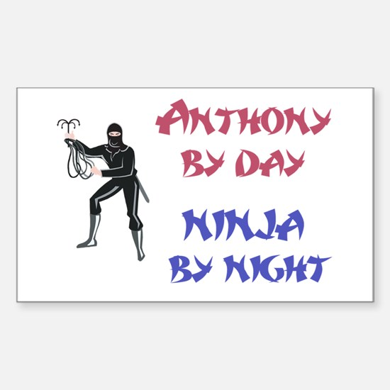 Anthony - Ninja by Night Rectangle Decal