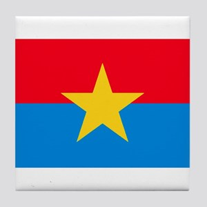 Viet Cong Flag Tile Coaster