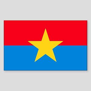 Viet Cong Flag Rectangle Sticker 10 pk)