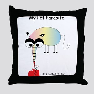My Pet Parasite Throw Pillow