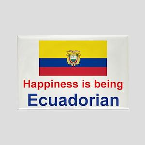 Happy Ecuadorian Rectangle Magnet