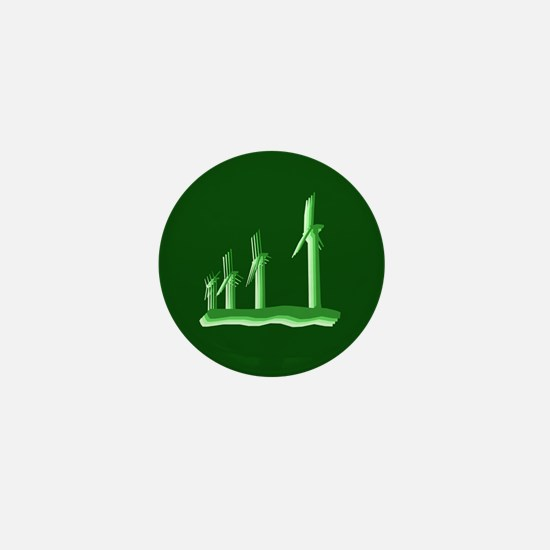 Green Wind Power Mini Button