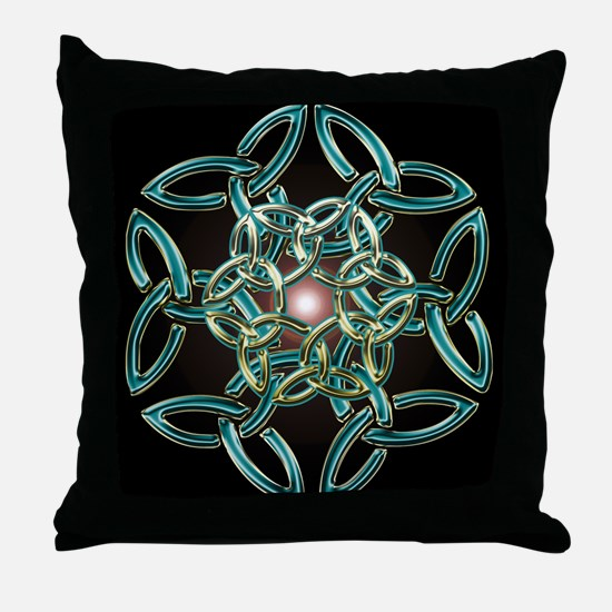 Triquetra Circle Knot Throw Pillow