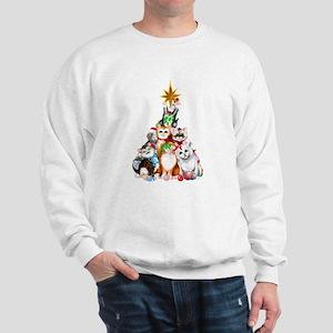 Christmas Tree Kittens Sweatshirt