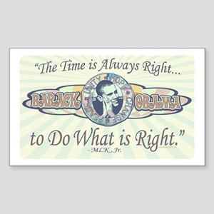 Obama Do What is Right Rectangle Sticker
