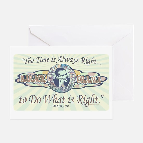 Obama Do What is Right Greeting Card
