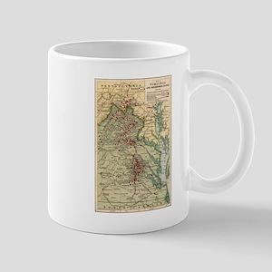 Virginia Civil War Map Mug