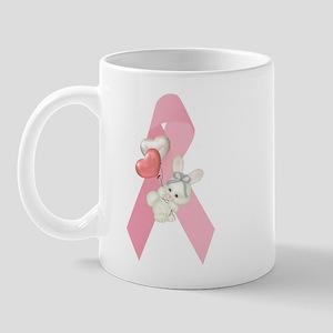 Breast Cancer Ribbon & Bunny Mug