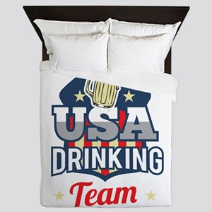 Bachelor Party USA Drinking Team Beer Queen Duvet
