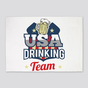 Bachelor Party USA Drinking Team Be 5'x7'Area Rug