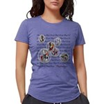 Plaid Marbles Womens Tri-blend T-Shirt