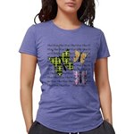 Plaid Butterflies Womens Tri-blend T-Shirt