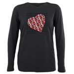Plaid Heart Plus Size Long Sleeve Tee