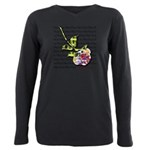 Plaid Rose Plus Size Long Sleeve Tee