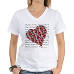 Plaid Heart Women's V-Neck T-Shirt