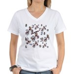 Plaid Marbles Women's V-Neck T-Shirt