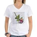 Plaid Rose Women's V-Neck T-Shirt