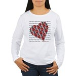Plaid Heart Women's Long Sleeve T-Shirt