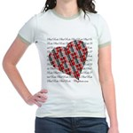Plaid Heart Jr. Ringer T-Shirt
