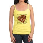 Plaid Heart Jr. Spaghetti Tank