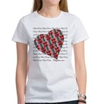Plaid Heart Women's Classic T-Shirt