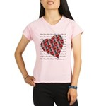 Plaid Heart Performance Dry T-Shirt