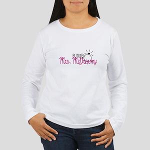 Future Mrs. McDreamy (Pink) Women's Long Sleeve T-