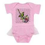Plaid Rose Baby Tutu Bodysuit