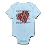 Plaid Heart Baby Light Bodysuit