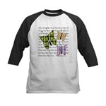 Plaid Butterflies Kids Baseball Tee