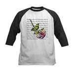 Plaid Rose Kids Baseball Tee