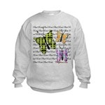 Plaid Butterflies Kids Sweatshirt