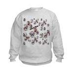 Plaid Marbles Kids Sweatshirt