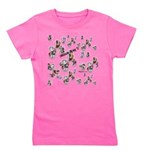 Plaid Marbles Girl's Tee