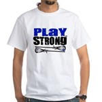 Play Strong LAX White T-Shirt
