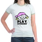 Play Strong Chick Jr. Ringer T-Shirt