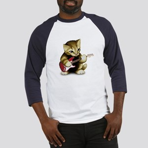 Cat Playing Guitar Baseball Jersey