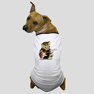 Cat Playing Guitar Dog T-Shirt