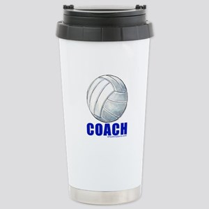Volleyball Coach Stainless Steel Travel Mug