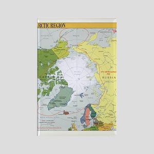 Arctic Polar Map Rectangle Magnet