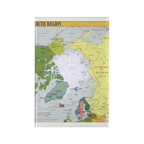 Arctic Polar Map Rectangle Magnet (100 pack)
