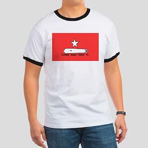 Red Gonzales Flag Ringer T