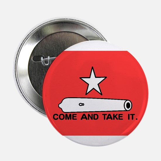 "Red Gonzales Flag 2.25"" Button"