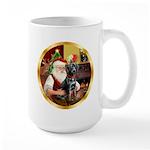 Santa's Lab (blk)#1 Large Mug