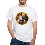 Santa's Lab (blk)#1 White T-Shirt